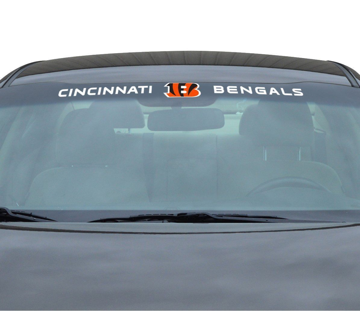 "CINCINNATI BENGALS 35"" X 4"" WINDSHIELD REAR WINDOW DECAL CAR TRUCK NFL FOOTBALL"