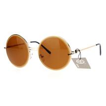 Designer Fashion Sunglasses Womens Round Circle Frame Beveled Lens - £9.29 GBP