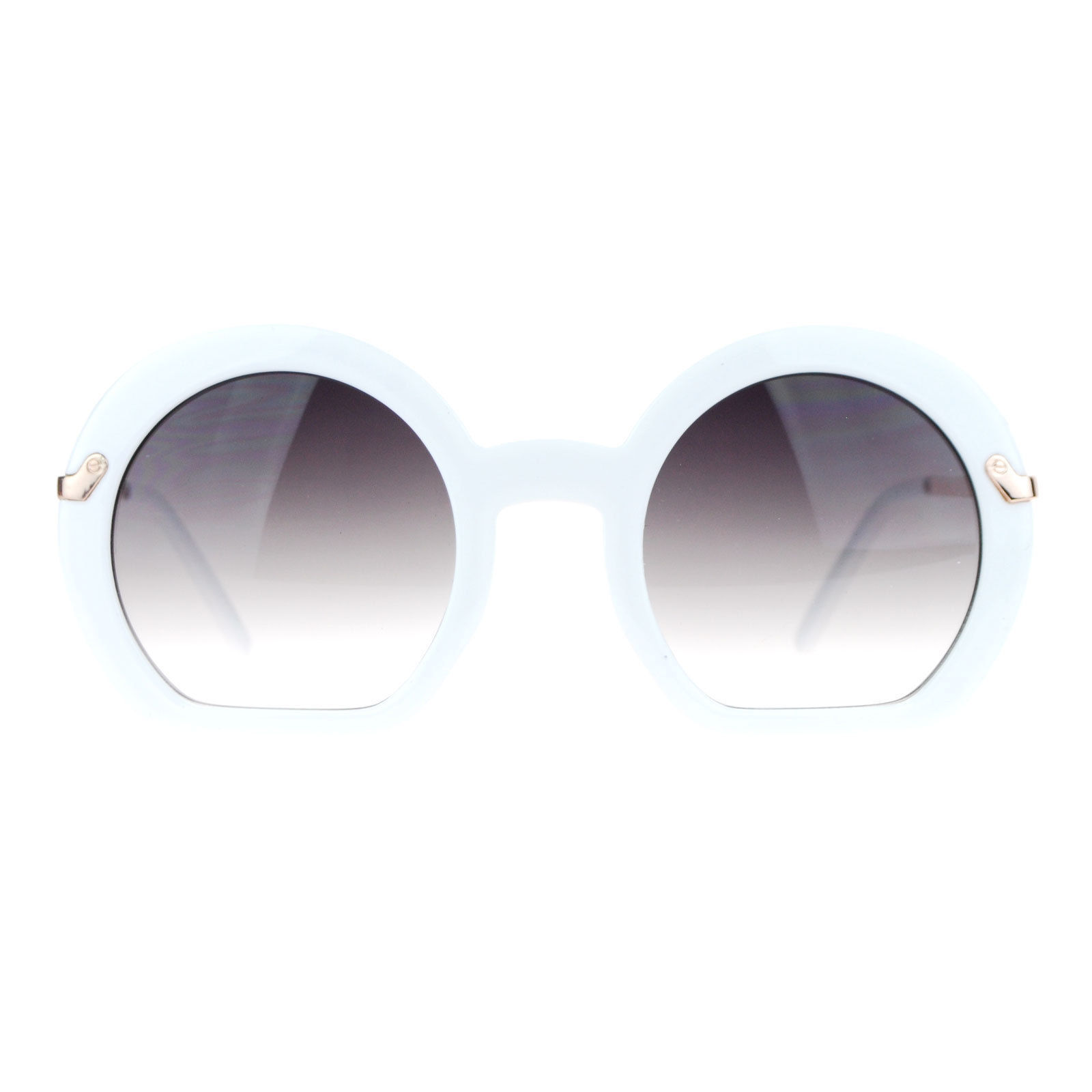 Cropped Cutoff Round Sunglasses Womens Designer Fashion Shades UV400