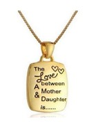The Love Between A Mother and Daughter Pendant Necklace Gold Tone or Sil... - $6.92
