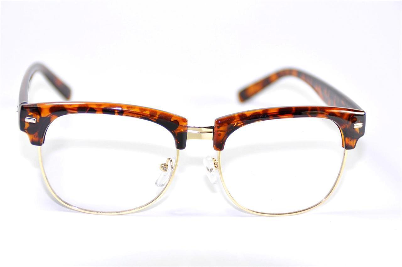 Glasses Frames Eyebrows : Vintage Classic Inspired Mens Glasses Frames Half Rimless ...
