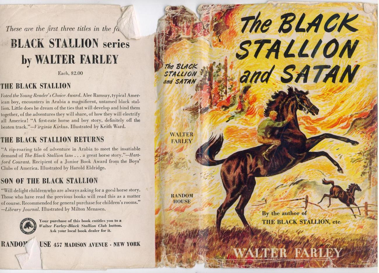 Walter Farley  THE BLACK STALLION & SATAN  1949 1st printing