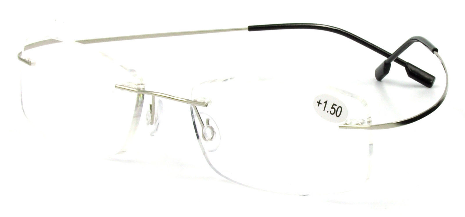 Rimless Glasses Durability : Mens Titanium Hingeless Rimless Reading Glasses Poly ...