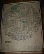 c1950 Vintage Buffalo Ny Boy Scouts Of America Map Bsa Civic Merit Badge - $49.49