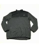 FILA Men's 1/4 Zip Sweater Size Large Zip Pockets Long Sleeve Black Casu... - $27.33