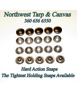 Snap Fastener's, Stainless Steel, *Hard Action, Extra Strong Hold, 25 Pi... - $17.29