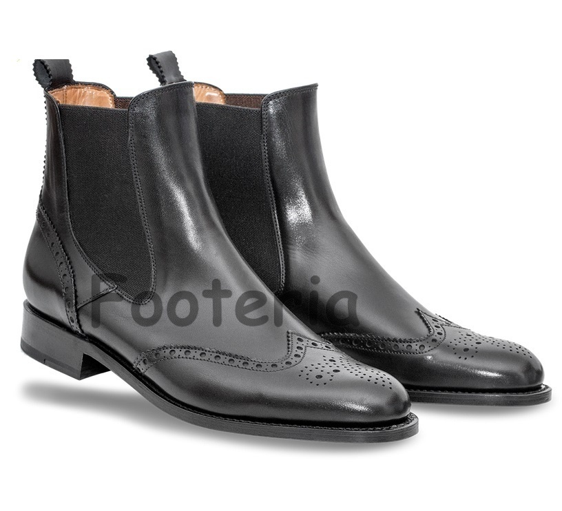 Black Wingtip Boots Men Images House Shoes Leather