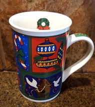 Christmas Collage Colorful Holiday Coffee Cup 1... - $15.79