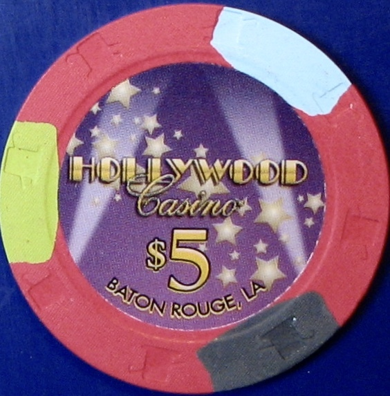 Primary image for $5 Casino Chip. Hollywood, Baton Rouge, LA. M18.