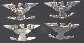 WWII Colonel War Eagle KC Luke Sterling 1 ½ inch set of two    - $80.00