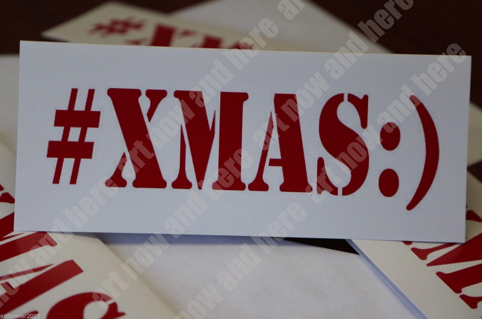 Christmas 10 Cards & Envelopes Original Artwork  #XMAS:) Peace FREE SHIPPING