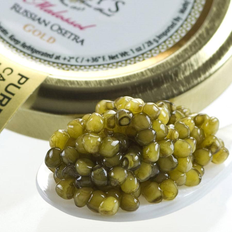 Primary image for Osetra Karat Gold Russian Caviar - Malossol, Farm Raised - 5.5 oz, glass jar