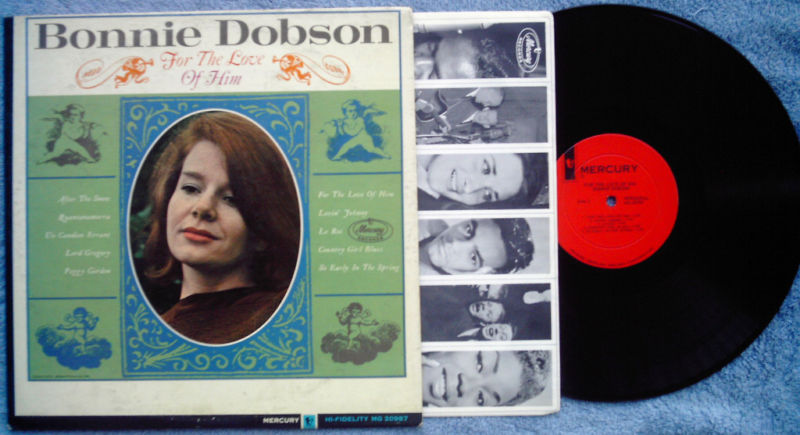 Bonnie Dobson folk LP For the Love of Him Canadian 1964