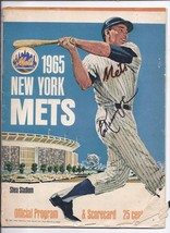 1965 New York Mets Opening Day Program vs Los Angales Dodgers April 12th... - $140.25