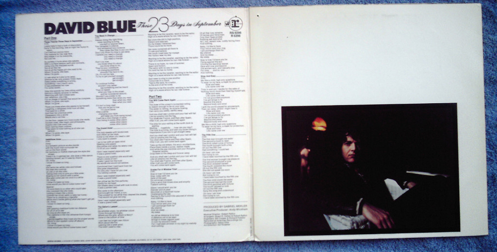 David Blue These 23 Days in September LP two tone Reprise 1968 folk psych
