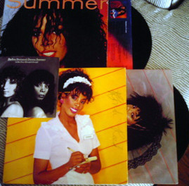 Donna Summer lot 2 LP s + 45 PS She Works Hard Love In Control Enough is Enough