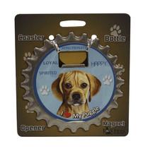 Puggle dog coaster magnet bottle opener Bottle Ninjas magnetic - $9.95