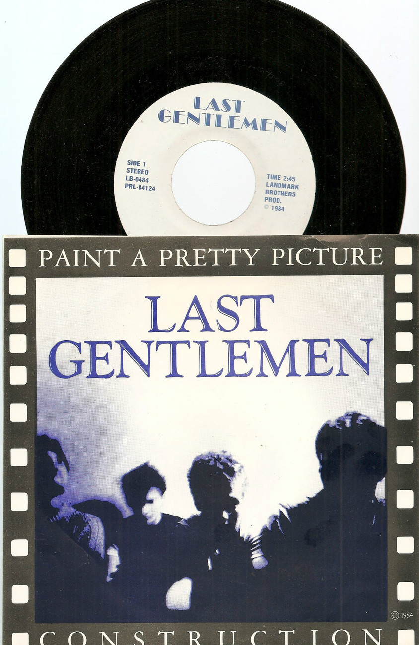 "Last Gentlemen 7"" 45 Paint a Pretty Picture new wave synth pop Champaign IL"
