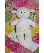"""Pottery Barn Kids LAMB 9"""" Stitched 123 Book Tummy Ivory SHEEP Plush Soft... - $16.42"""