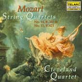 Mozart: String Quartets No. 14 & 15 CD Telarc Cleveland Quartet William Preucil