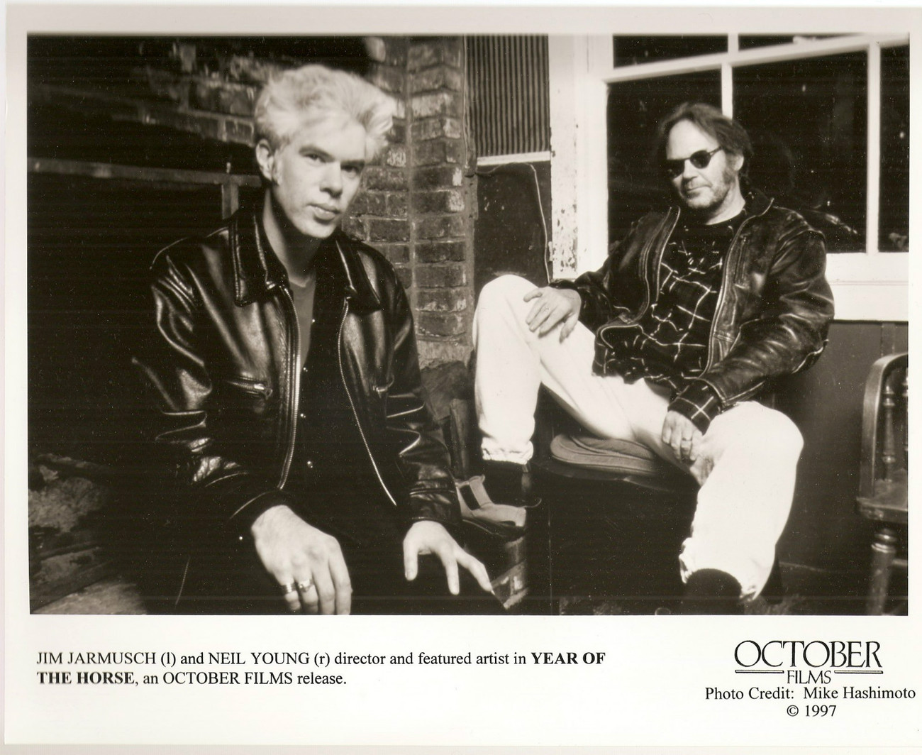 Neil Young Jim Jarmusch press photo 1997
