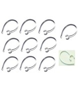 10 Pack Clear Heavy Duty Samsung compatible Replacement Ear Hooks HM1900... - $3.42