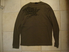 Vans Skating Skateboard Brand Thermal Long Sleeve Forest Green Shirt M - $21.63