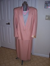 Women's Peach Colored Tailored Suit - $39.99