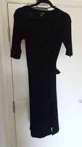 H&M wrap tie dress black elbow length sleeves r... - $8.88