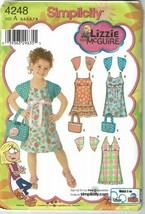 Simplicity Sewing Pattern 4248 Dress Shrug Bag Size 3-8 Lizzie McGuire  - $9.89