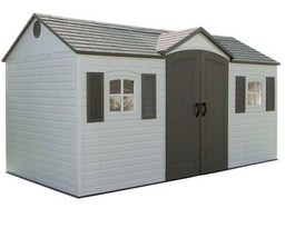 Lifetime 15x8 Plastic Storage Shed 6446 w/ Floor & More - $1,729.95