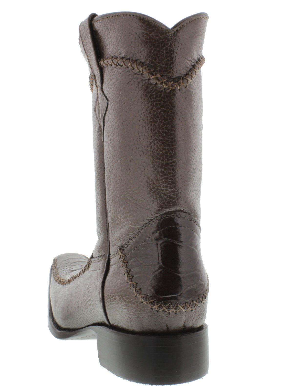 mens brown sea turtle zipper casual dress western cowboy
