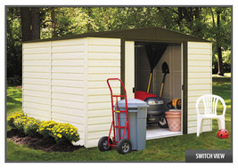 Arrow Sheds 8x6 Vinyl Dallas - Vinyl Coated Steel Storage Shed Kit (mode... - $599.95