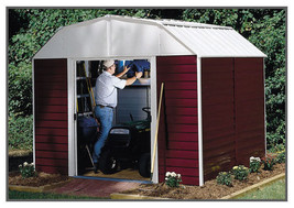 Arrow 10x8 Red Barn Storage Shed Kit RH108 w/ Floor Kit - $769.99