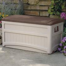 Suncast 73 Gallon Resin Deck, Patio or Pool Storage Box w/ Rollers (DB80... - $119.89