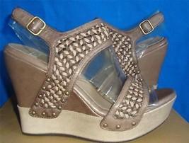 UGG Australia ASSIA Chocolate Wedge Sandals Heels Size US 8.5 NIB #1003074 - $54.77