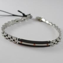 Stainless Black, White & Rose Steel Ondulate Bracelet, 4 Us By Cesare Paciotti - $94.05