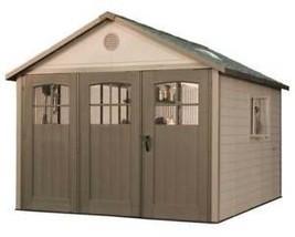 Lifetime 11x11 Plastic Outdoor Storage Shed Garage w/ 9' Wide Doors (mod... - $2,645.95