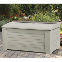 Suncast 127 Gallon Resin Deck, Patio or Pool Storage Box w/ Seat (model ... - $219.99