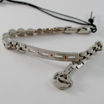 STAINLESS SATIN WHITE & ROSE STEEL ONDULATE BRACELET, 4US BY CESARE PACIOTTI image 2