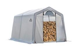 ShelterLogic 10 x 10 x 8 Seasoning Shed; 5.5oz Clear PE Cover (model 90396) - $295.95