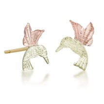 Hummingbird 12k Black Hills Gold Post Earrings - $112.86