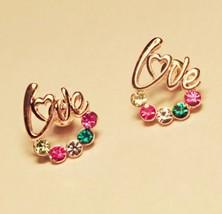 "Shining Rhinestones ""Love"" Stud Earrings - $8.99"