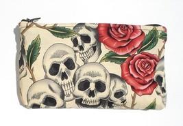 Day of the Dead / Dia de los Muertos Skulls and Roses Wallet - $8.00