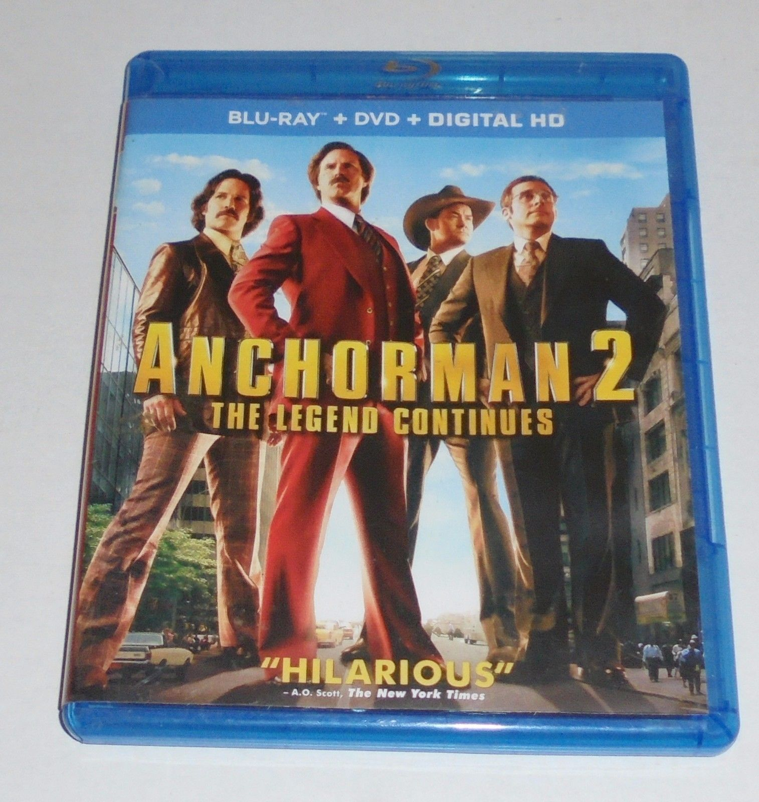 Anchorman 2: The Legend Continues (Blu-ray/DVD, 2014, 3-Disc Set) Comedy Movie