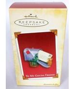 Hallmark Keepsake Christmas Ornament To My Gouda Friend Mouse With Mailb... - $13.60
