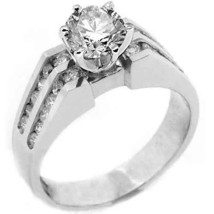 1.3 Carat Womens Diamond Engagement Wedding Ring Brilliant Round Cut White Gold - £2,820.51 GBP