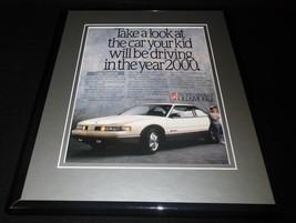 1989 Oldsmobile Cutlass Supreme Framed 11x14 ORIGINAL Advertisement - $34.64