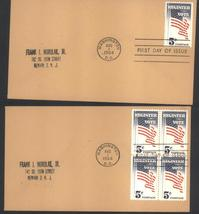 Register and Vote first day covers Aug 1, 1964 single and block of 4 - $2.99