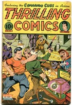Thrilling Comics #48 1945- Doc Stange Schomburg cover- Commando Cubs VG - $200.06